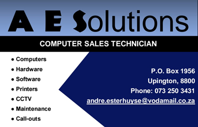 Riemvasmaak Computer sales and repairs | A E Solutions