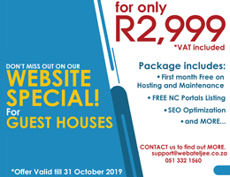 Website Special for Guest Houses | Riemvasmaak Accommodation, Business & Tourism Portal